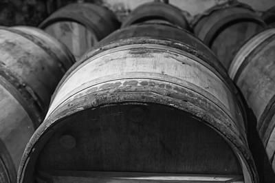 Barrels Of Wine Print by Georgia Fowler
