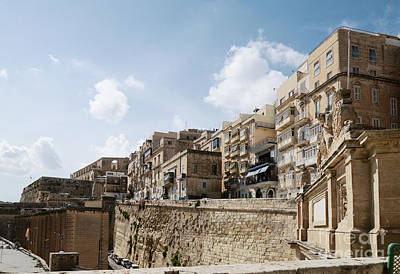 Street Photograph - Barriera Wharf And Victoria Gate Located At The Old City Of  Valletta, Southern Harbour District, Ma by Dani Prints and Images