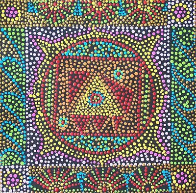 Chakra Painting - Base Chakra by Vijay Sharon Govender