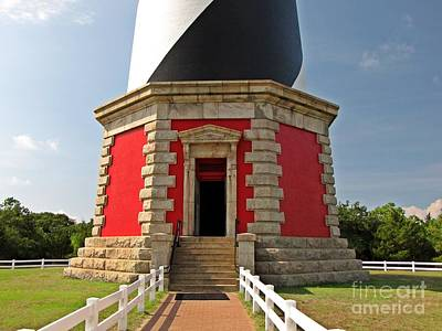 Base Of The Cape Hatteras Lighthouse Print by Ben Schumin