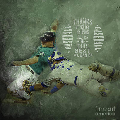 Conlon Painting - Baseball 01 by Gull G