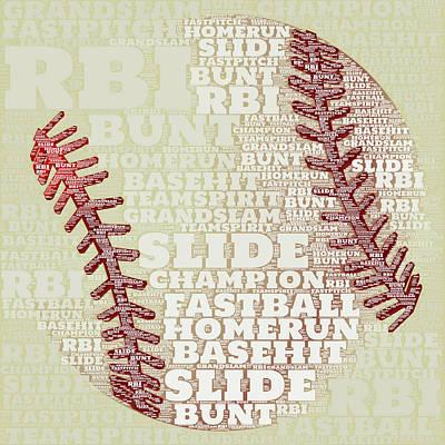 Baseball 2 Print by Brandi Fitzgerald