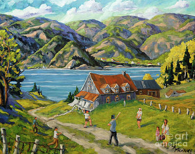 Baseball A La Charlevoix Original by Richard T Pranke