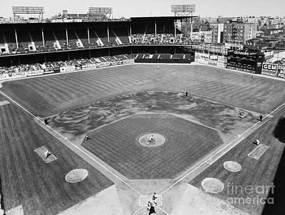 Ebbets Field Photograph - Baseball Game, C1953 by Granger