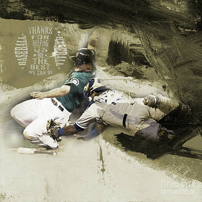 Conlon Painting - Baseball  by Gull G