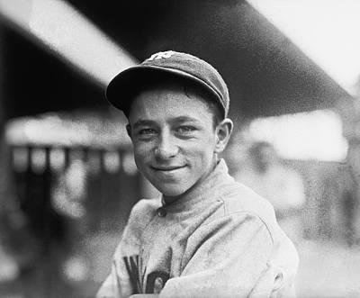 Baseball Mascot Eddie Bennett Print by Underwood Archives