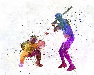 Baseball Painting - Baseball Players 01 by Pablo Romero