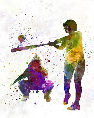 Baseball Painting - Baseball Players 02 by Pablo Romero