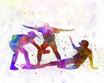 Baseball Painting - Baseball Players 03 by Pablo Romero