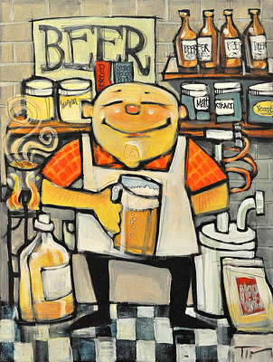 Beer Painting - Basement Brewer by Tim Nyberg