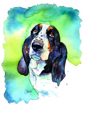Basett Hound Print by Christy  Freeman