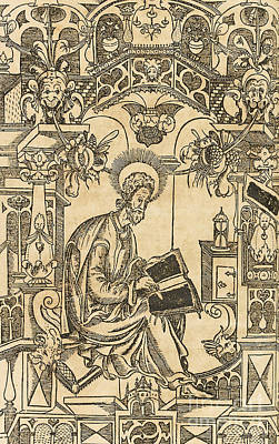 Basil Of Caesarea, Also Called Saint Basil The Great Print by Pyotr Mstislavets