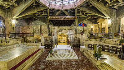 Blessed Virgin Photograph - Basilica Of The Annunciation - Nazareth by Stephen Stookey