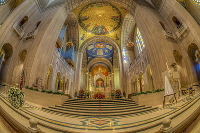 Jesus Photograph - Basilica Of The National Shrine Main Altar by Susan Candelario