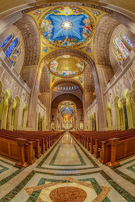 Basilica Of The National Shrine Of The Immaculate Conception II Print by Susan Candelario