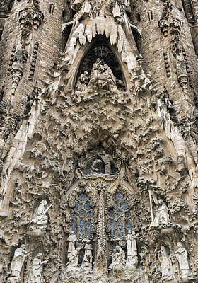 Curvilinear Photograph - Basilica Sagrada Familia by John Greim