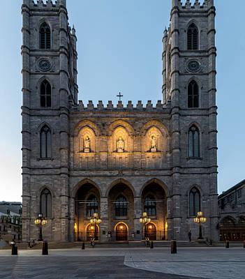 Old Montreal Photograph - Basilique Notre Dame De Montreal by James Wheeler