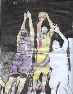 Basket Ball Print by Daniel Kabugu