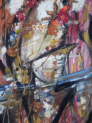 Basketball Abstract Painting - Basket-bol Dreams by Hasaan Kirkland