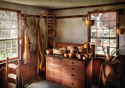 Basket Maker - The Basket Makers House  Print by Mike Savad
