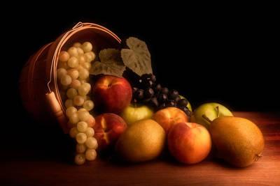 Basket Of Fruit Print by Tom Mc Nemar