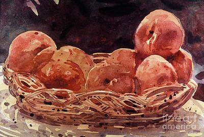 Basket Of Peaches Original by Donald Maier