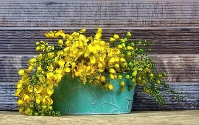 Cassia Blossoms Photograph - Basket Of Sunshine by Chrystyne Novack