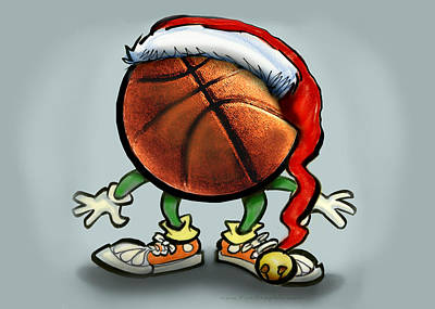 Basketball Greeting Card - Basketball Christmas by Kevin Middleton
