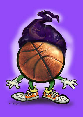 Wiz Greeting Card - Basketball Wizard by Kevin Middleton