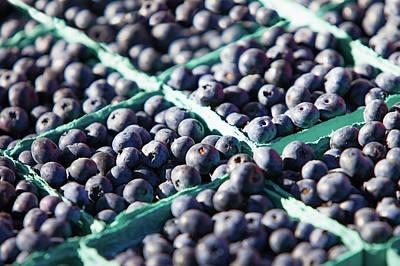 Baskets Of Blueberries Print by Todd Klassy