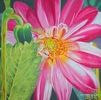Artist Christine Belt Painting - Basking by Christine Belt