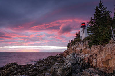 Bass Harbor Photograph - Bass Harbor Red by Benjamin DeHaven