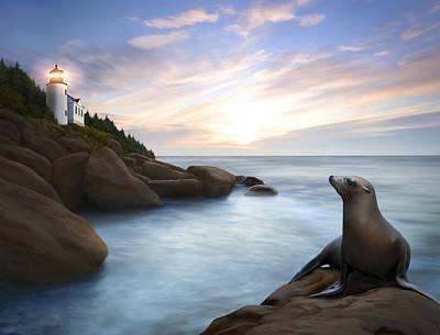 Bass Harbor Light Print by James Charles