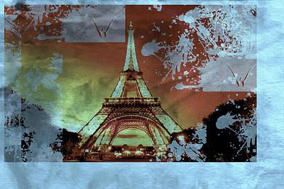 Eiffel Tower Mixed Media - Bastille Day 8 by Priscilla Huber