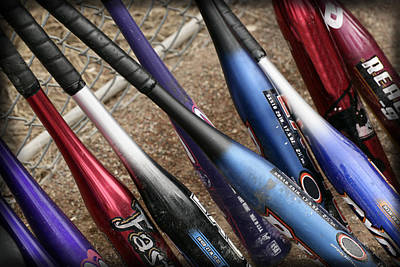 Softball Photograph - Bat Collection by Kelley King