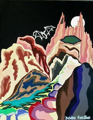 Cave Art Painting - Bat Mountain by Deidre Firestone