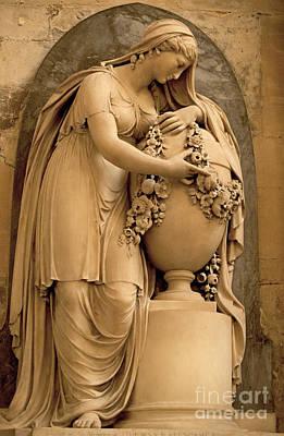 Marbles Photograph - Bath Abbey Memorial Statue by Alison Gunn