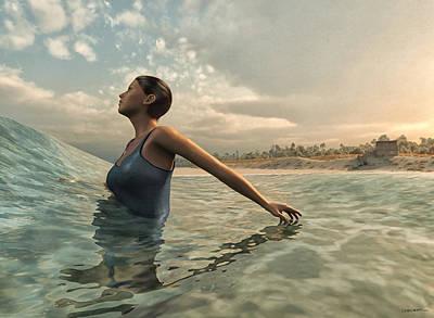 Beach Digital Art - Bather by Cynthia Decker
