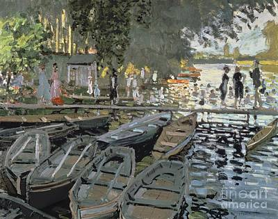 Claude Painting - Bathers At La Grenouillere by Claude Monet