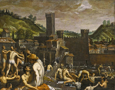 Painting - Bathers At San Niccolo by Passignano