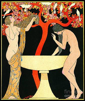 Washing Hair Photograph - Bathing Beauties 1922 by Padre Art
