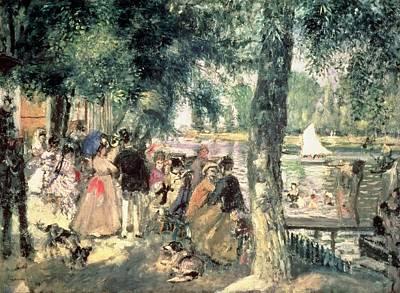1869 Painting - Bathing On The Seine Or La Grenouillere by Pierre Auguste Renoir