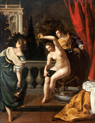 Bathsheba Painting - Bathsheba At Her Bath by Artemisia Gentileschi