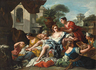 De Troy Painting - Bathsheba At Her Bath by Jean-Francois Detroy