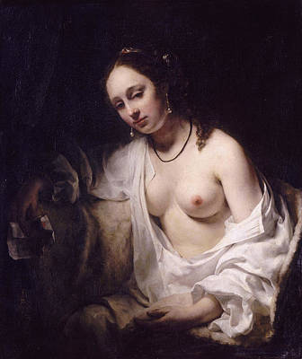 Bathsheba Painting - Bathsheba With David's Letter by Willem Drost