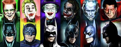 Riddler Painting - Batman 1966 - 2016 by Vinny John Usuriello