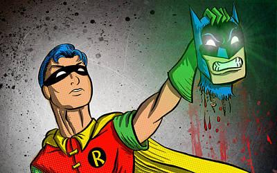 Batman And Robin Print by Joseph Badon