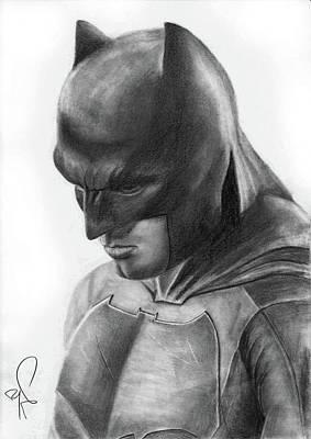 Ben Affleck Drawing - Batman by Artistyf