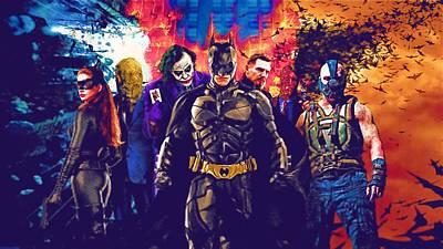 Batman Black Poster Print by Egor Vysockiy