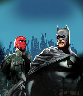 Batman Digital Art - Batman Under The Red Hood 2010  by Caio Caldas